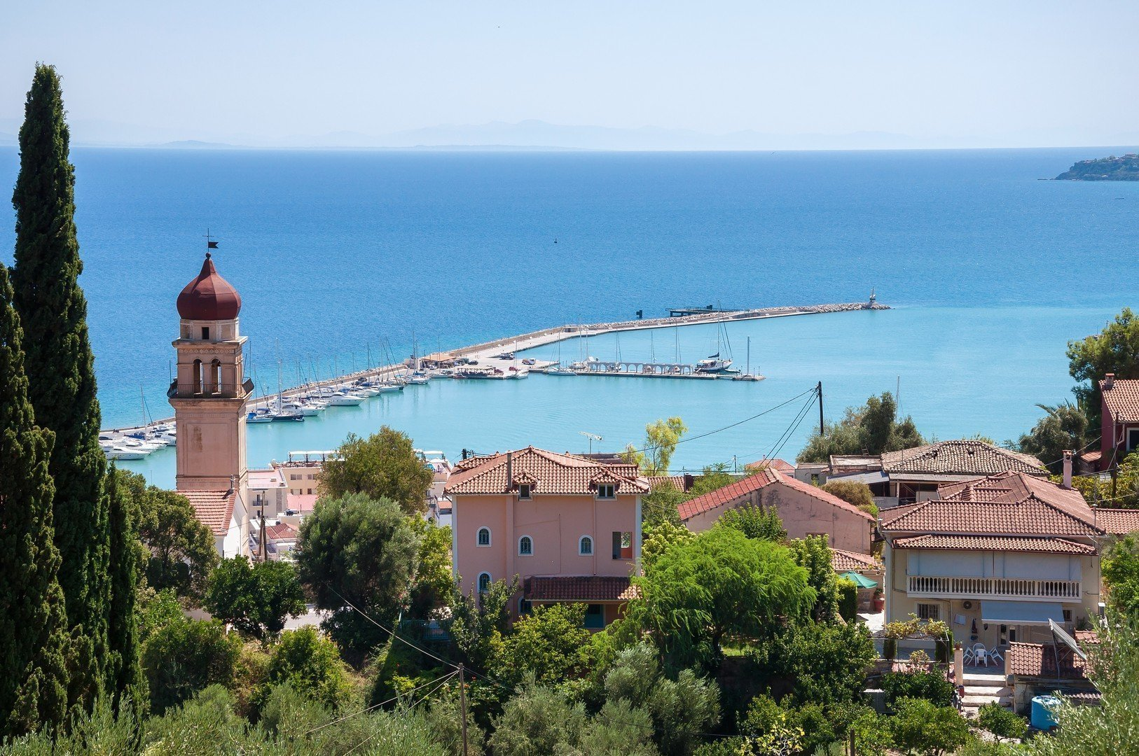 View of port in Zante town, capital city of Zakynhtos, Greece shutterstock_382973059