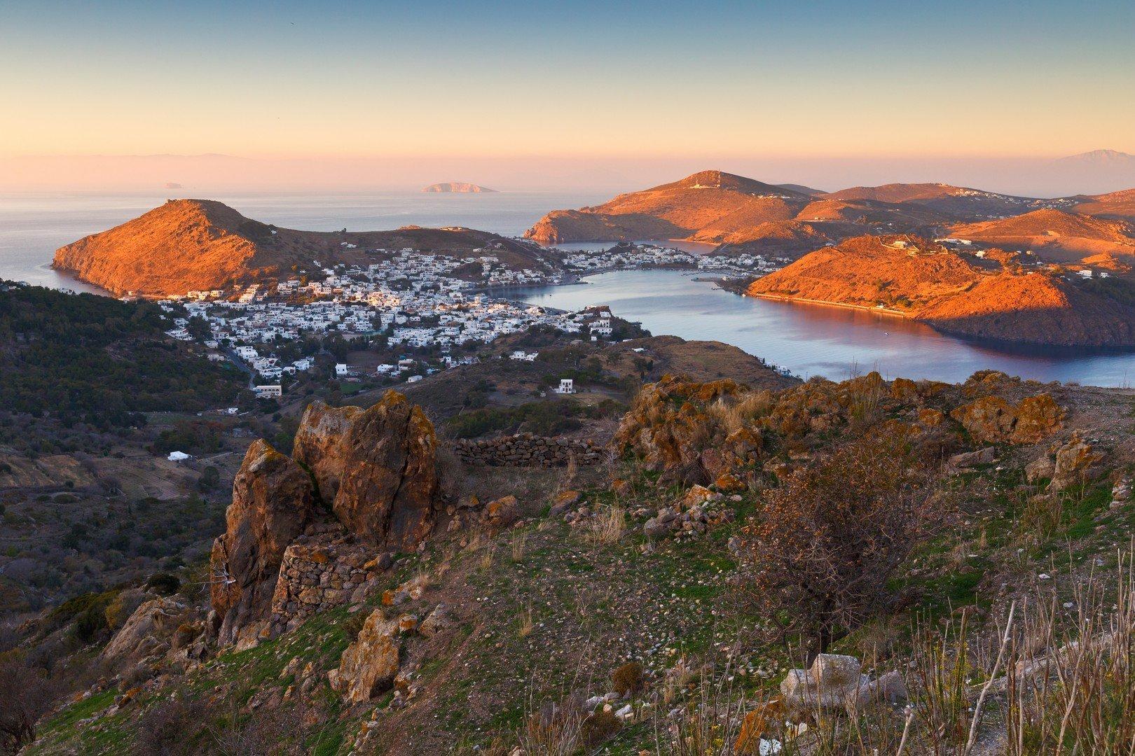 Patmos island in Dodecanse archipelago in eastern Aegean. - Imagen shutterstock_543697006