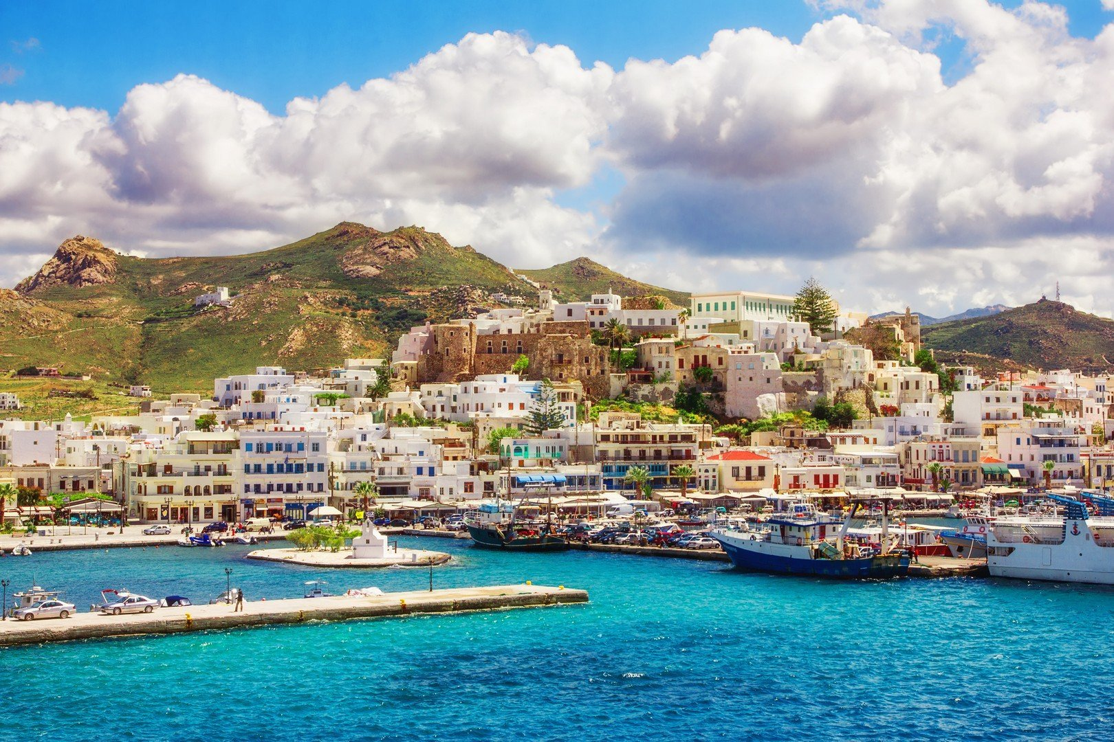 Port on the island of Naxos, Greece shutterstock_188996729