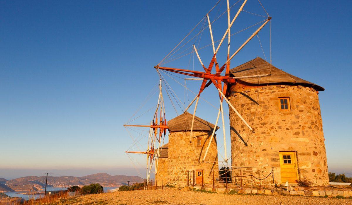 Patmos island in Dodecanse archipelago in eastern Aegean. - Imagen shutterstock_543696997