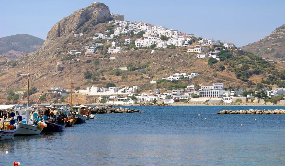 Skyros Island, Greece capital city reflection on port