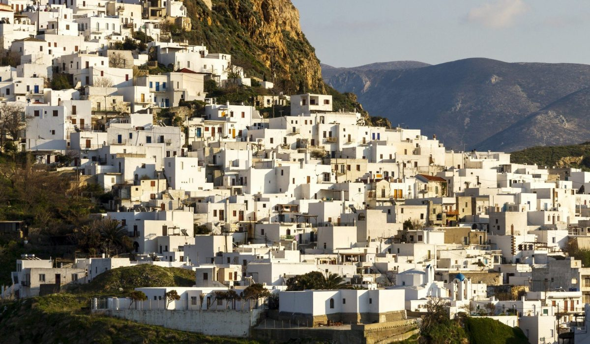Chora, capital of Skyros island, in northern Aegean sea, Greece.
