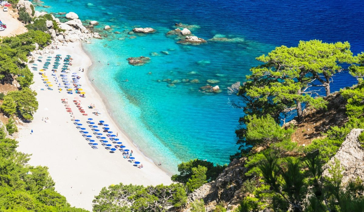 most beautiful beaches of Greece - Apella in Karpathos shutterstock_390726721